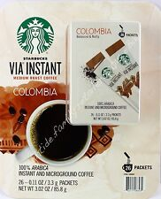 Starbucks Instant Coffee Via Roast Medium Colombia 26 Count Packets