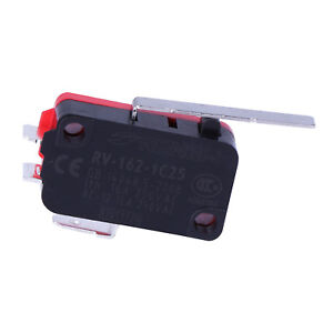 1x Long Straight Hinge Lever Type SPDT Micro Switch Limited Switch RV-163-1C25