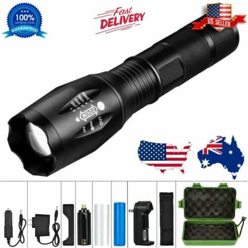Tactical Military LED Flashlight Torch G900 Zoomable 5-Mode Waterproof Lamp