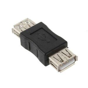 Accoppiatore USB Adattatore CONVERTITORE GENDER CHANGER tipo a a F Donna Joiner-Nero