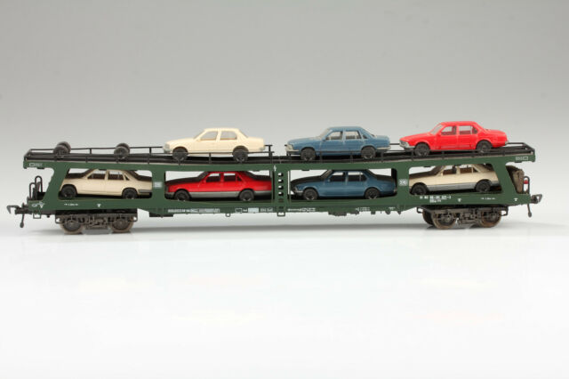 H0 Fleischmann 5284 Vagón para Automóviles con Schlußbeleuchtung-ok Suciedad /