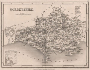 Art Seats Polling Places 1845 Old To Make One Feel At Ease And Energetic Dorsetshire County Map By Dugdale/archer