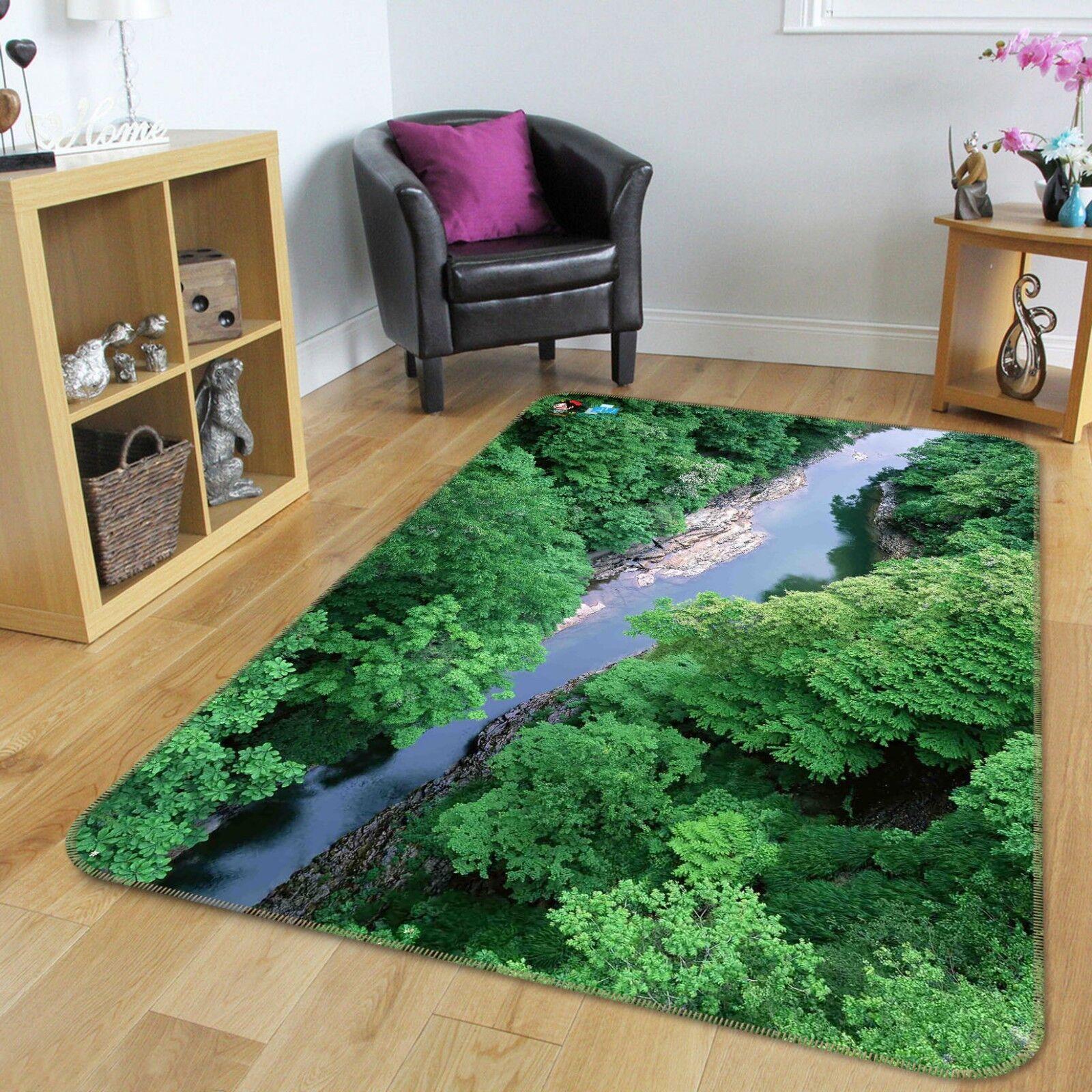 3D Grove River Water68 Non Non Non Slip Rug Mat Room Mat Quality Elegant Photo Carpet US faa237