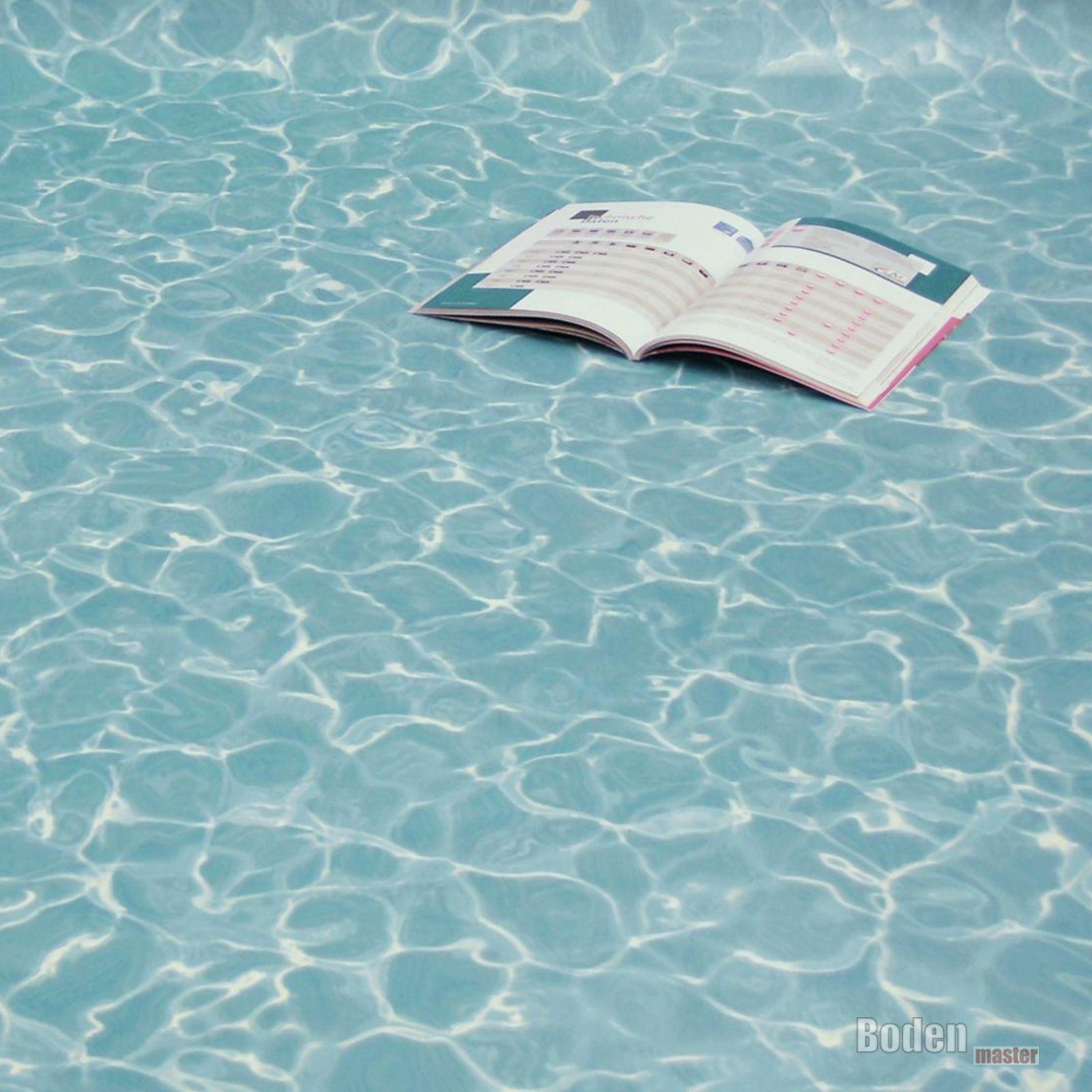 PVC Bodenbelag Wasser Blau Swimming Pool Blau Breite 3 m - 1m²/
