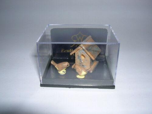 Reutter Porzellan aviario Garden Birdhouse set Bambole Tube 1:12 ART 1.744//5