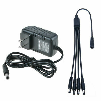 12V 2A AC Adapter Charger 4 Splitter Power Cord For ZMODO PS-115 SWANN Q-SEE