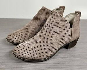 fb1ccfd08772 Image is loading BP-Faren-Bootie-Taupe-Suede-Womens-Size-6-