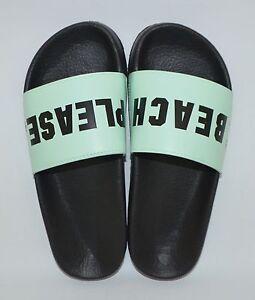 Victoria S Secret Pink Mint Beach Please Slides Flip Flops Sandals