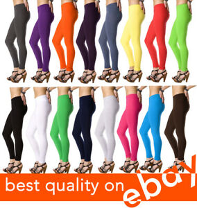 Womens-Full-Length-Cotton-Leggings-All-Sizes-and-Colors-High-Quality
