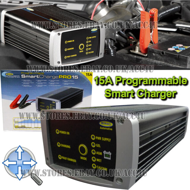 Ring 12v 15A Professional Programmable SmartChargePro Car Smart Battery Charger