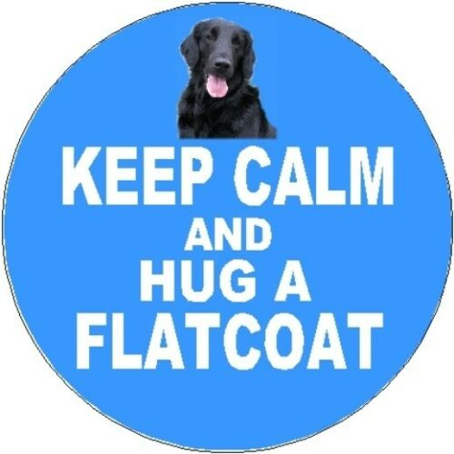 2 Flatcoated Retriever Dog Car Stickers Keep Calm /& Hug By Starprint
