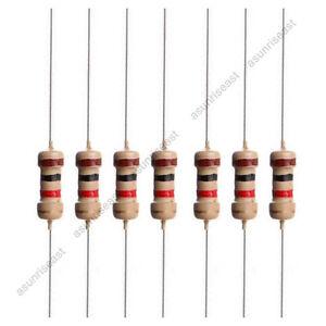 1000 x assiali 1 4W 1K Ohm ceramica core Resistori a pellicola T2S7