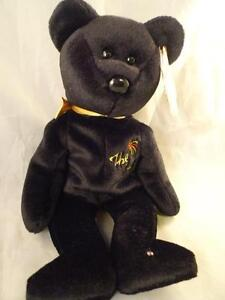 09f779ae2 Details about TY Beanie Babies The End Black Bear Retired Rare Swing Tag  Plush Toy