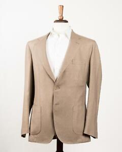 Boglioli /'Coat/' NWT Ivory Light Khaki Cotton Blend 3 Button Sport Coat 52 IT 42