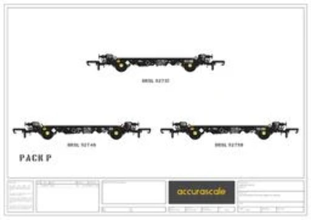 Accurascale 2082DRSP OO Gauge DRS PFA Wagon Triple Pack P