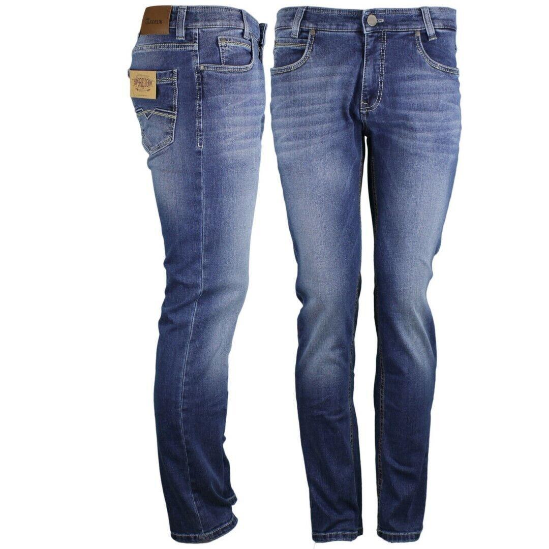 Gardeur Men's Superflex Jeans Trousers Modern Fit bluee Batu-2 71001 067