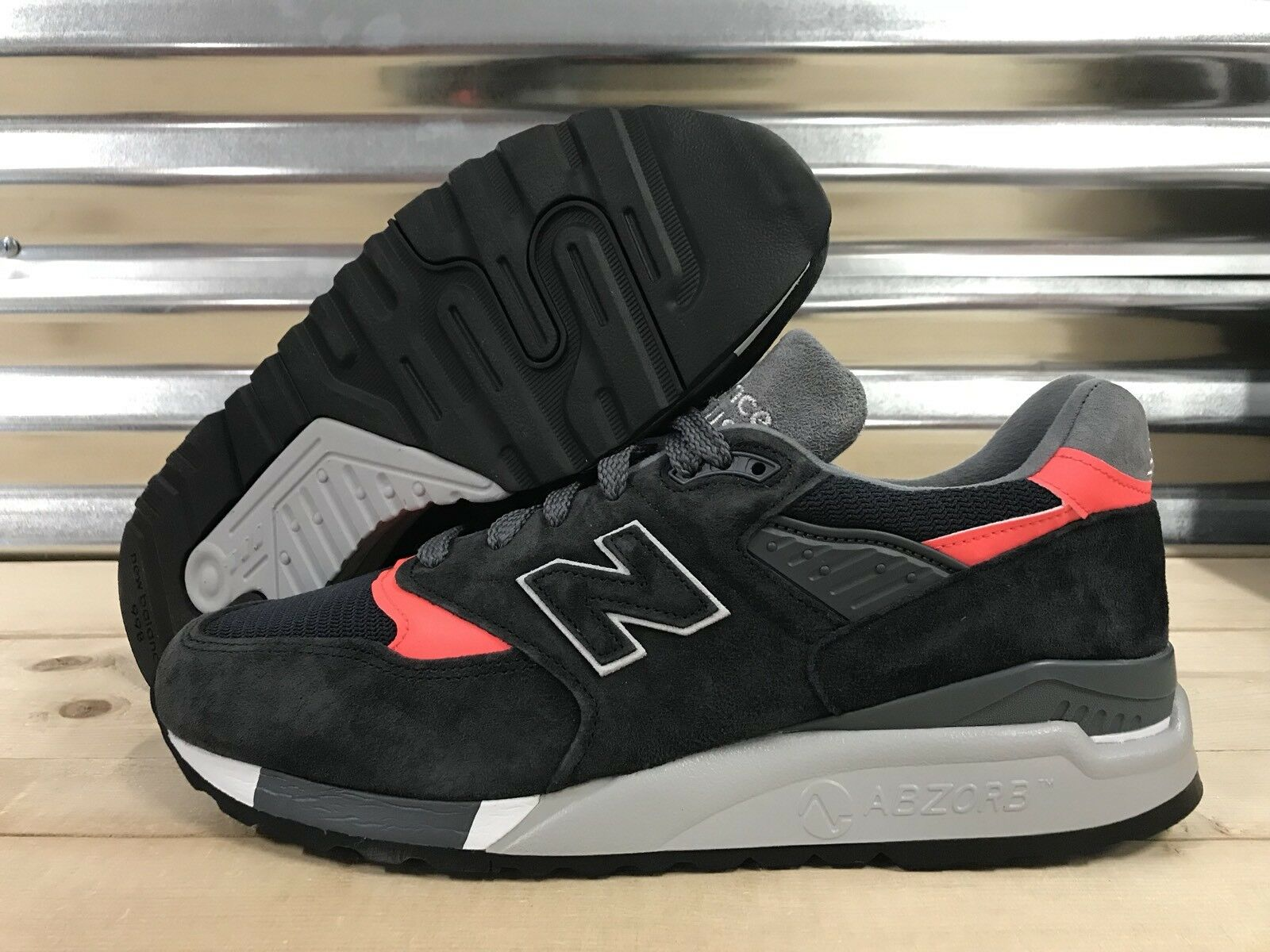 New Balance 998 Retro Shoes Suede Navy Blue Pink Gray Made In USA SZ ( M998APC )