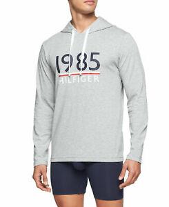 59-00-Tommy-Hilfiger-Men-039-s-Modern-Essential-Cotton-Logo-Hoodie-Gray-Size-L