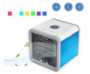 Dettagli Su Mini Aire Acondicionado Usb Ventilador Mini Fan Hielo Agua Humidificador 7 Led
