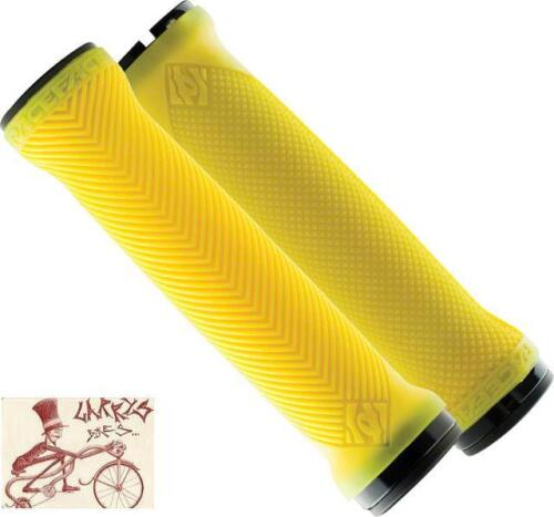 RACEFACE LOVEHANDLE YELLOW LOCK-ON MTB BICYCLE GRIPS