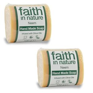 Faith-in-nature-Neem-hecho-a-mano-jabon-2-x-100g-Vegano-Animales