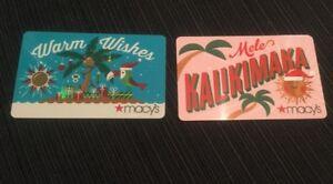 2 New Macy\'s Mele Kalikimaka Christmas Gift Cards NO MONEY VALUE | eBay