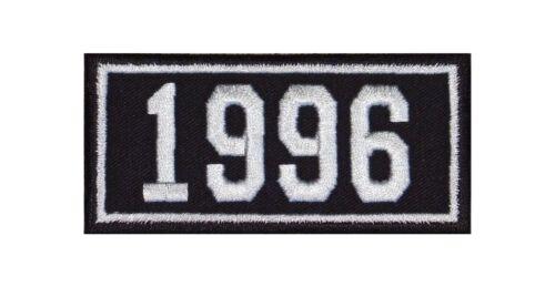 1996 Biker Patch ricamate anni numero anno di nascita BIRTH year ROCKER MOTO MC