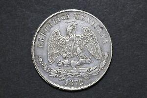 Mexico - Republic 1872 Zs H UN PESO Silver Coin ( Weight : 26.94 g ) C330