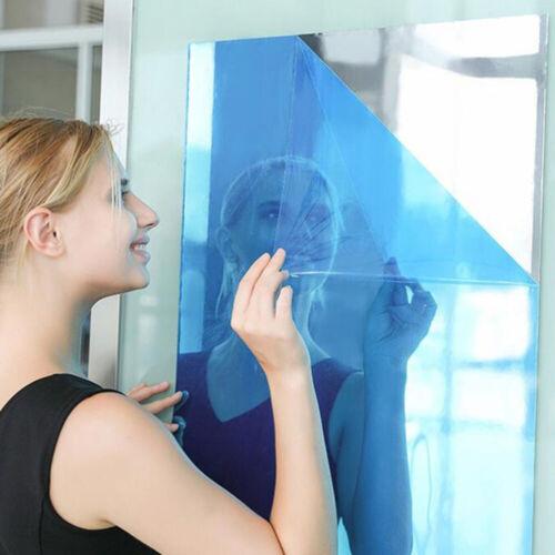 Mirror  Tile Wall Sticker Square Self Adhesive Room Bathroom Decors Stick On Art