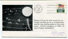 1968 Pioneer 9 Orbit Sun Interplanetary Weather Map Radiation Solar Storms SPACE