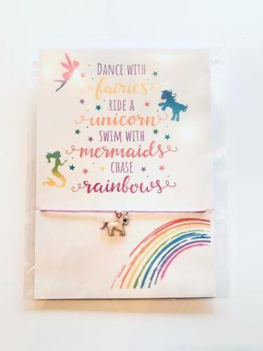 Unicorn Fairies Stay Safe  Friendship Wish Bracelet  Miss You Isolation Gift