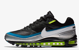 uk availability ad6d0 19686 Image is loading NIKE-AIR-MAX-97-BW-97-BLACK-METALLIC-