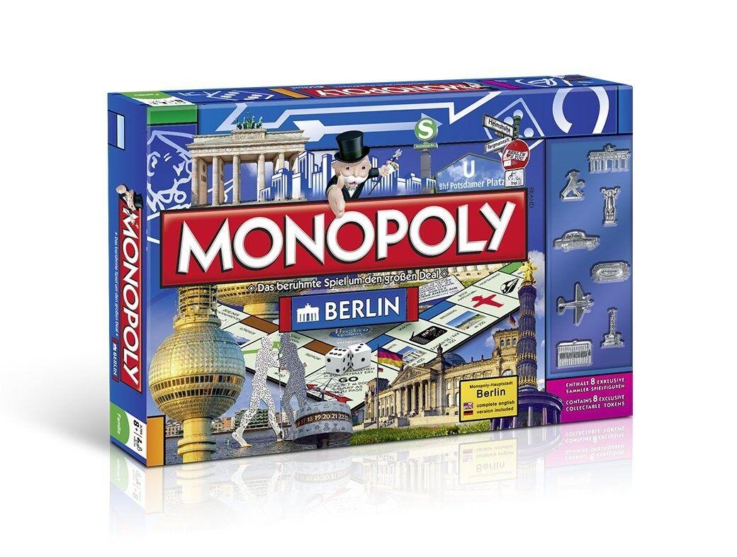 Monopoly Berlino  (tedesco Inglese) Gioco da tavolo (B-Ware confezionamento siano danneggiati)  a buon mercato