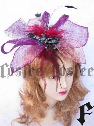 Aityce Gothic federn Kopfschmuck Luxus lilarot 4 Farben