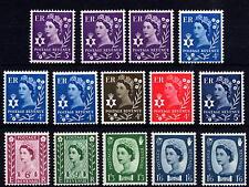 GB 1958-70 Northern Ireland Pre-Decimal Definitive Set of 14 MNH Unmounted Mint