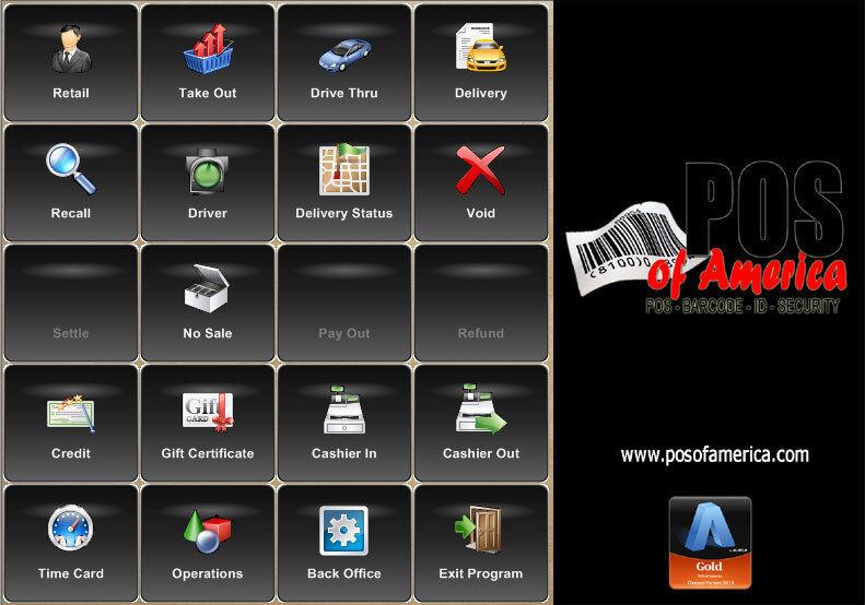 Posiflex XT3915 Restaurant One Time fee POS System with