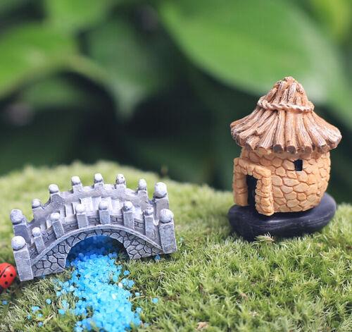 New Fairy Garden Bridge Miniature Figurine Craft Micro Landscape Ornament Decor