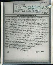 Mrs.Borland. Hartopp Road, Warwickshire  - David Hosack.  - 1944  Airgraph BG489