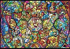 Disney All Characters Pure White 266 pcs Jigsaw Puzzle Stained Glass Art Type