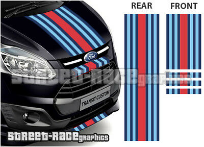 Ford Martini OTT004 TRANSIT CUSTOM Racing Stripes Vinyle Graphique Autocollants