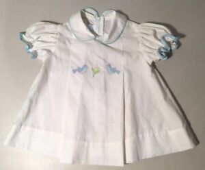 Vintage Lord Taylor Betti Terrell White Dress With Birds Size 9