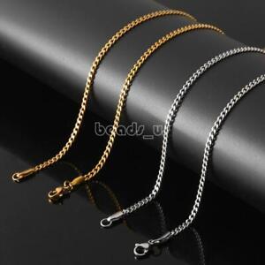 24 дюймов (примерно 60.96 см) 3 мм из нержавеющей стали цепочка ожерелье не кулон панк цепочкой подарок