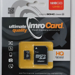 128GB-SDXC-Micro-SD-Karte-IMRO-Class-Klasse-10-mikro-Adapter-Card-UHS-I-128-GB