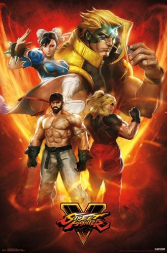 STREET FIGHTER V 22x34 VIDEO GAME 15787 CHARACTER COLLAGE POSTER
