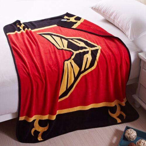 Anime Gundam Soft Warm Fleece Plush Throw Bed Blanket Otaku Bedding 120x140cm