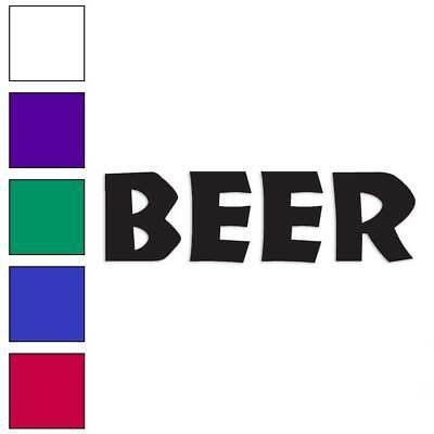 Beer Decal Sticker Choose Color Size #1535