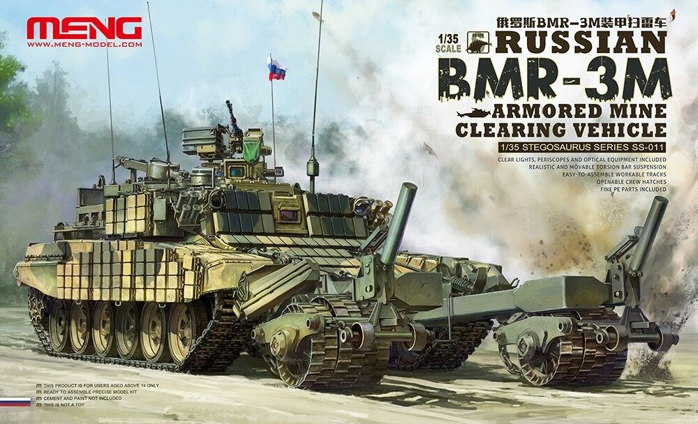 Meng Model 1 35 Russian BMR-3M Mine Clearing Vehicle GSS-011