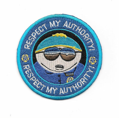 """South Park TV Series Officer Cartman /""""Respect My Authority/"""" Embroidered 3/"""" Patch"""