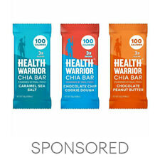 Health Warrior Chia Bars, Dessert Variety Pack, 15 Bars
