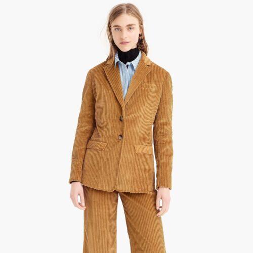 Jcrew Camel Cordoroy Wide Leg Crop Suit Set Jacket